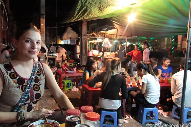 Streetfood dinner, Phnom Penh