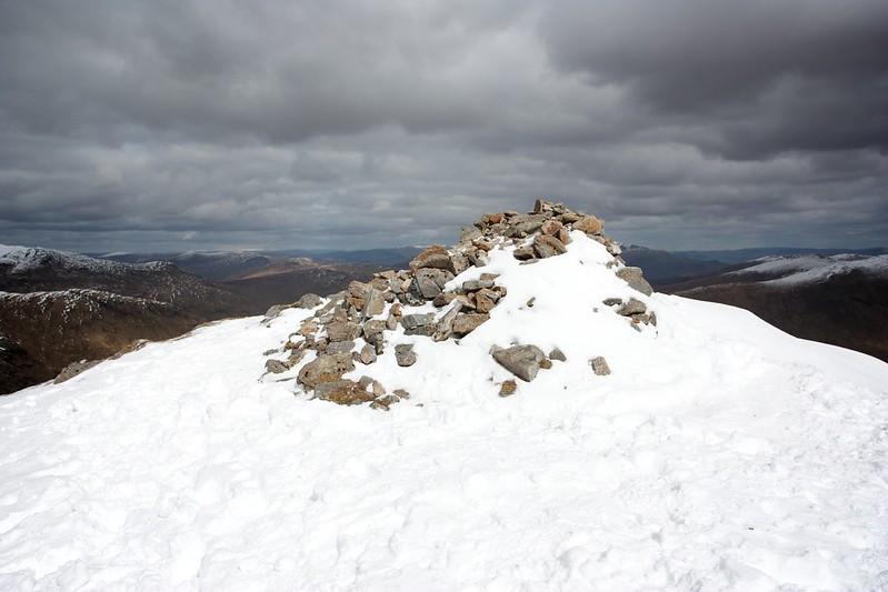 Summit cairn of Ben Challium