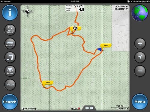 MX Following trail