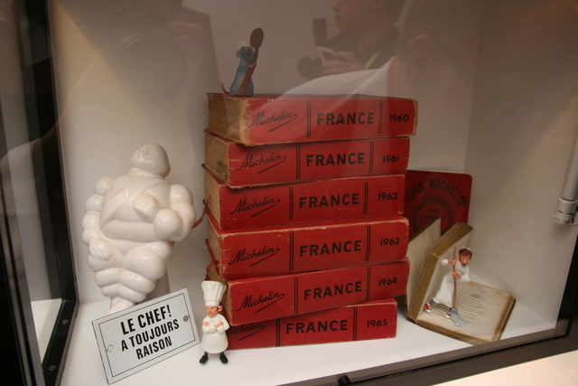 Vintage Michelin guides? See the Ratatouille figurines too!
