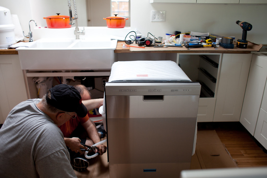 Installing the dishwasher