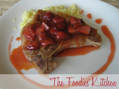 Chile Dusted Pork Chops with Strawberries