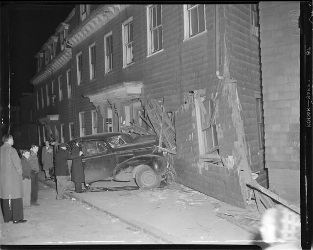Auto smashes into house
