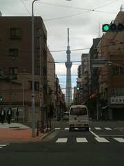 雨上がりの東京スカイツリー