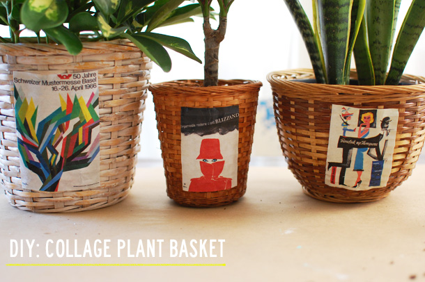 diy: collage plant basket