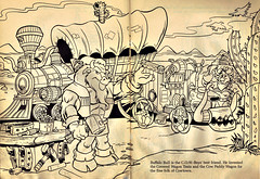 "RANDOM HOUSE :: ""MEET THE Wild West C.O.W.-Boys of Moo Mesa"" - A COLORING BOOK pg. 22, 23 (( 1993 ))"