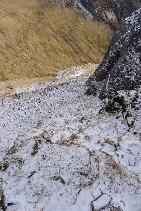 Steep climb up Bidein a' Choire Sheasgaich