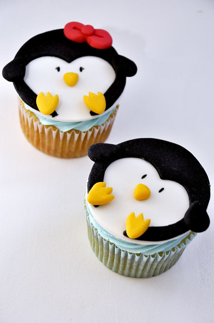 His and Hers Penguin Cupcakes