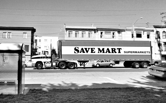 SaveMart trailer truck on Fulton St; The Richmond, San Francisco (2012)