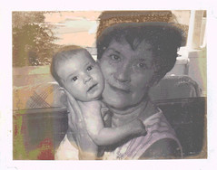 My Mom with My Daughter (Posterized Polaroid) by randubnick