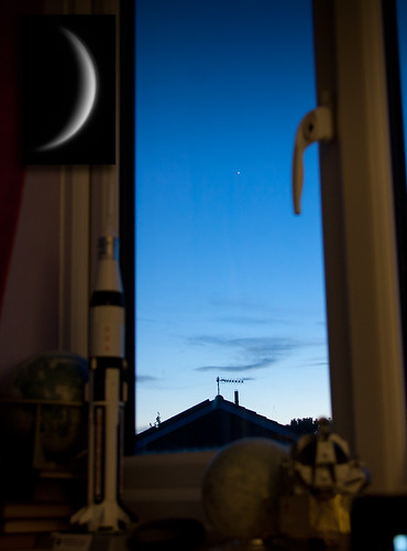 Venus tonight through the window & Telescope 130512 by Mick Hyde