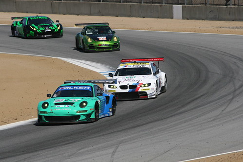 Cars on track at Laguna Seca
