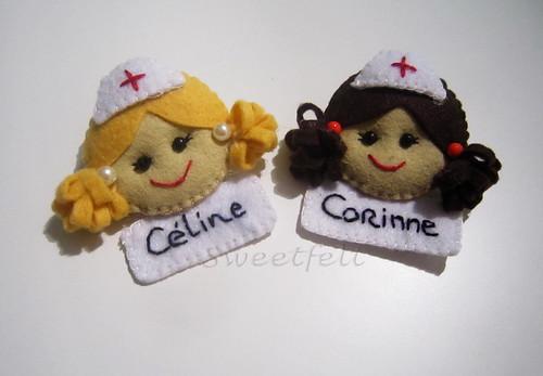 ♥♥♥  Enfermeirinhas... by sweetfelt \ ideias em feltro