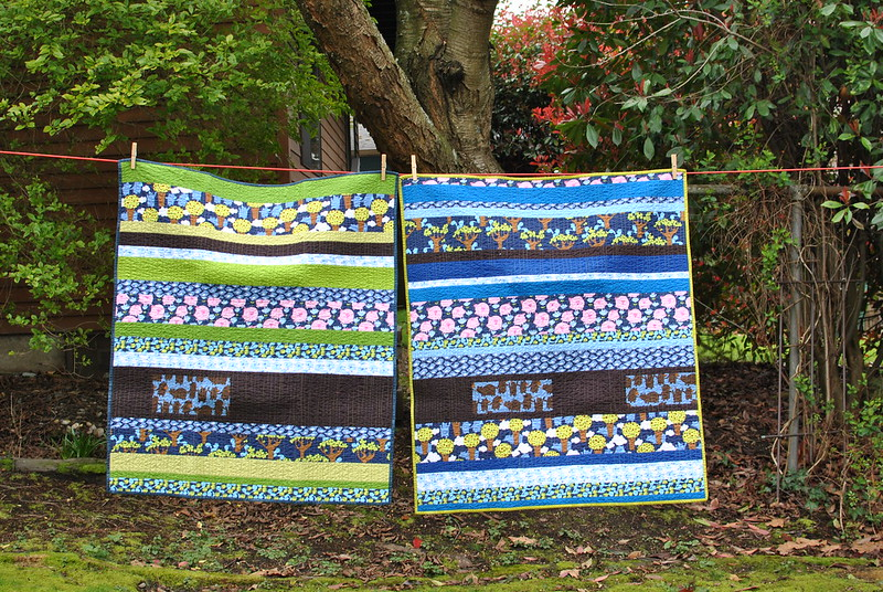 "Twin boys ""Get Together"" Quilts - front"
