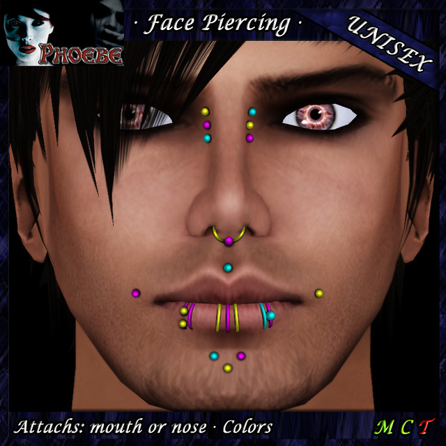 *P* Unisex Face Piercing ~ Serie K4 ~ Colors