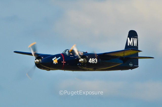 "Down the Centerline Series: Opposite Direction Pass Grumman F7F Tigercat ""Bad Kitty"""