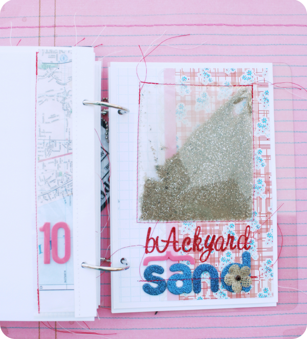 {travel journal} backyard sand