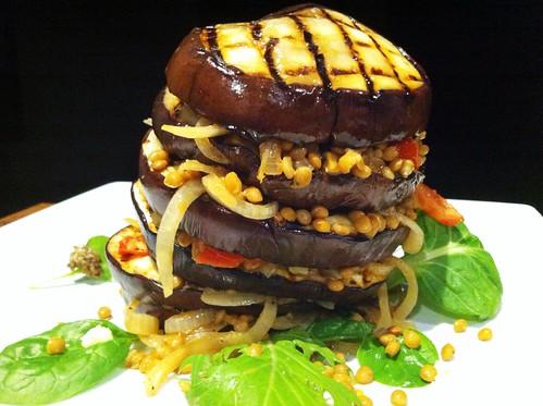 Lentil & Eggplant Stack v2 by mjd-s