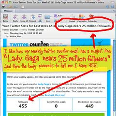 25 million followers for Lady Gaga