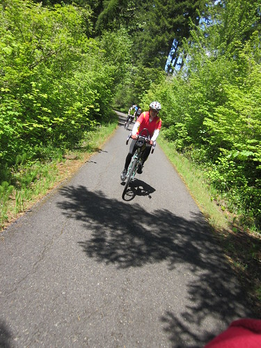 RB (and Ray behind him) on the Banks-Vernonia Trail