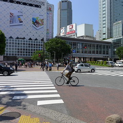 Cycling the Shibuya Scramble