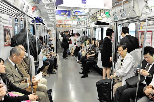 JR電車上