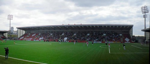 Excelsior Stadium, Main Stand from east