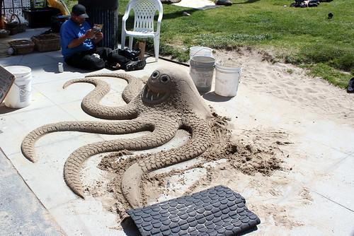Sand Art Octopus, Venice Beach