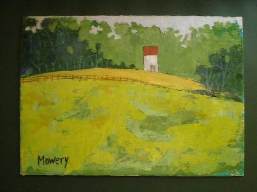 Pasture, acrylic, Barbara Mowery 2012