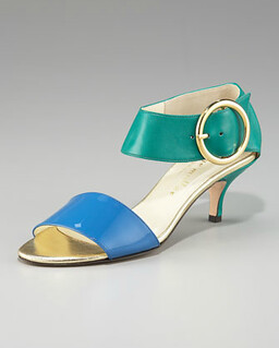 Bettye Muller Colorblock Leather Sandal NM Retail $355 on sale for $237