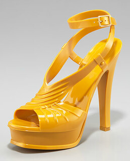 YSL Rubber Tribute-Last Sandal NM Retail $495 on sale for $331