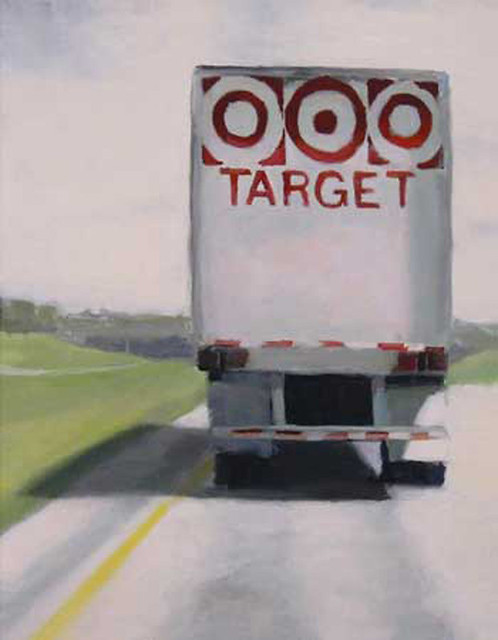 "Stephen Coyle, Target, alkyd on panel, 14"" x 11"""