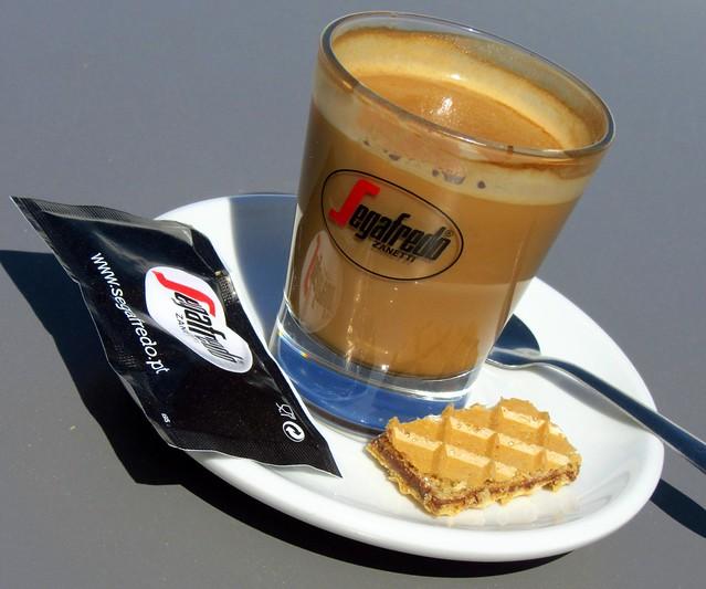 Cafe latte, Coimbra University, Coimbra, Portugal