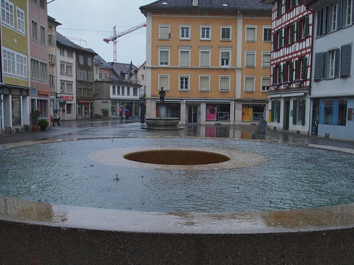 Einer der drei Judd-Brunnen, Steinberggasse Winterthur