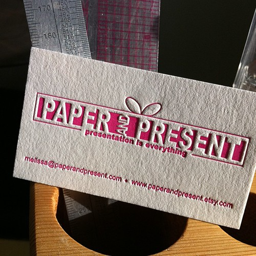 Reprinting biz cards for Paper and Present