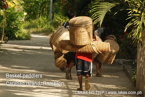 Basket Peddlers in Carabao Island, Romblon