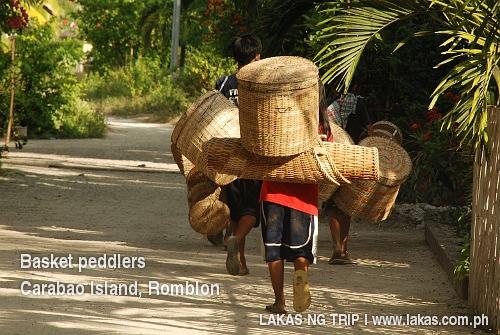 Basket Peddlers in Carabao Island, Romblon