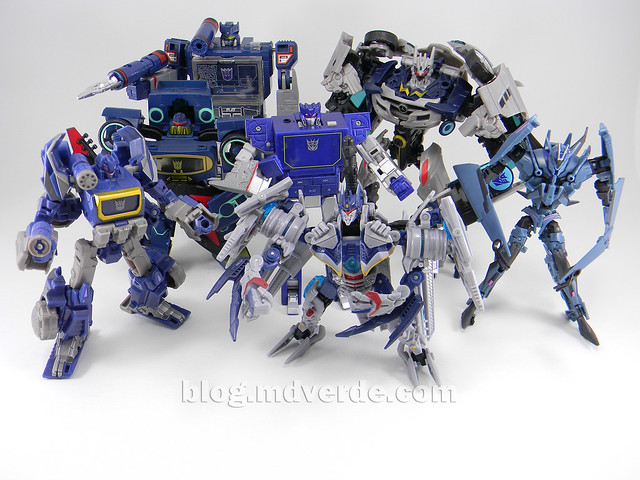 Transformers Soundwave Human Alliance - DotM - modo robot vs otros Soundwaves