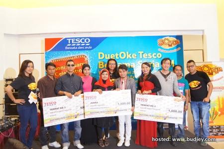 Pemenang di Tesco Prai