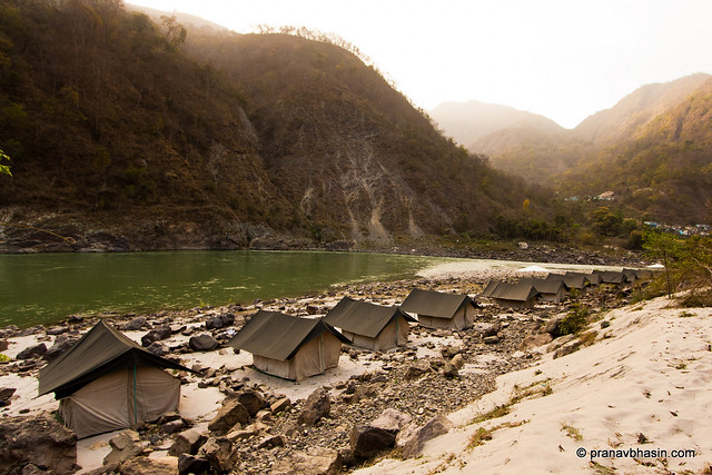 Camping On The Banks Of Ganges by Pranav Bhasin