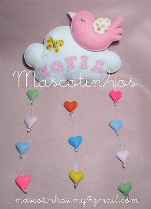 Móbile by Mascotinhos em Feltro