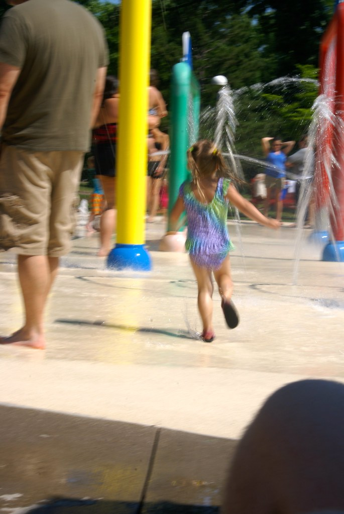 Vivianne at the Splash Pad