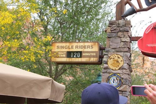 Radiator Springs Racers opening day line
