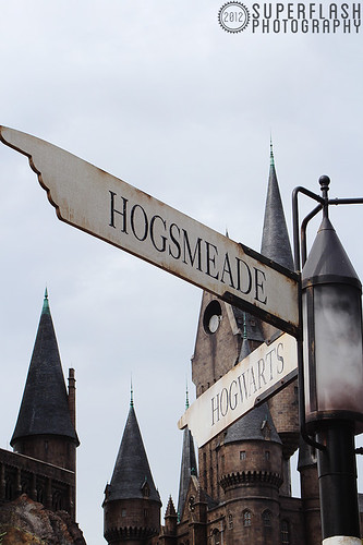 Hogsmeade, that way.