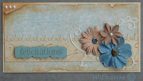 félicitations mariage shabby