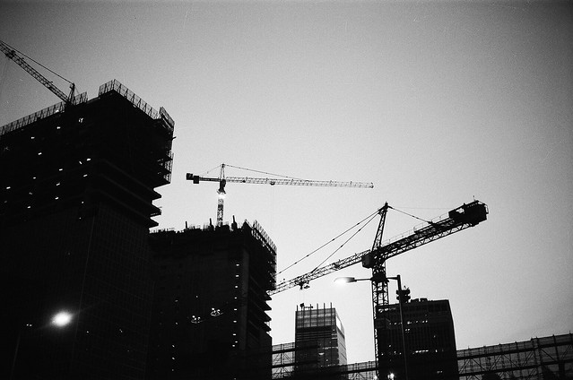 Cranes in Hong Kong