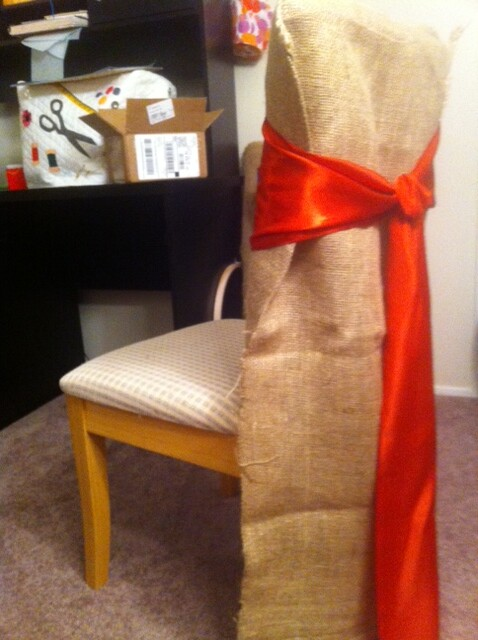 Amazing Burlap Chair Covers Persimmon Sash Burlap Cover 36 Tal Pabps2019 Chair Design Images Pabps2019Com
