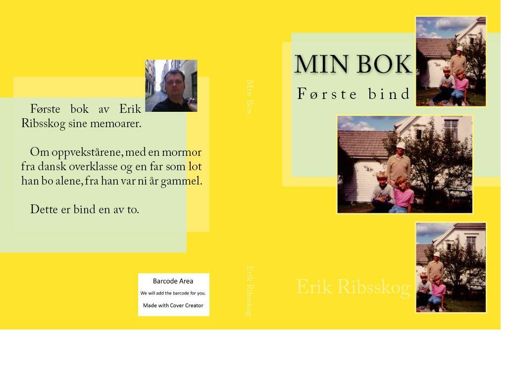 min bok første bind cover create