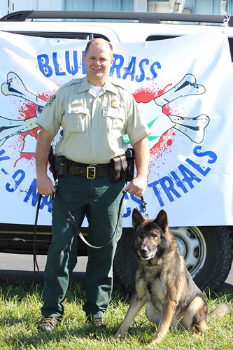 For six years, U.S. Forest Service Law Enforcement Office Jason Crisp and his K-9 partner Maros patrolled the Grandfather Ranger District on the Pisgah National Forest. They were killed during a search for a homicide suspect. (U.S. Forest Service)