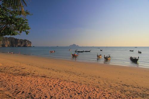 sunset beach landscape thailand 风景 日落 krabi 海边 黄昏 泰国 沙滩 傍晚